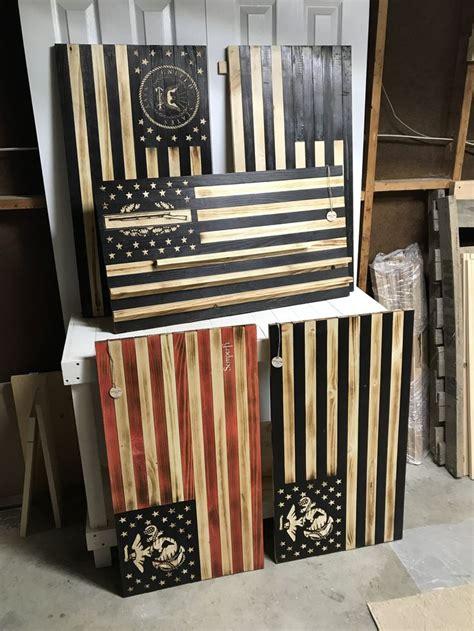 challenge coin holders handmade wood flags