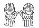 Coloring Winter Printable Mittens Mandala Hat Craft Crafts Preschool Kindergarten Preschoolcrafts sketch template