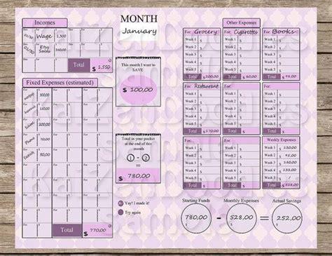 kakebo printable  pages expenses savings  kaizendoodles