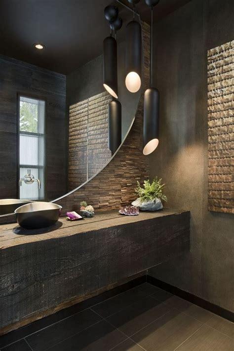 design de la salle de bain en materiaux naturels pierre