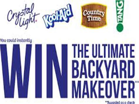 50000 Backyard Makeover by Kraft Ultimate Backyard Make Instant Win