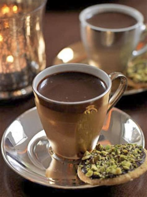 chocolate pots with pistachio shortbreads