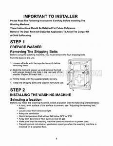 Maytag Mah8700aww Washer Installation Instructions