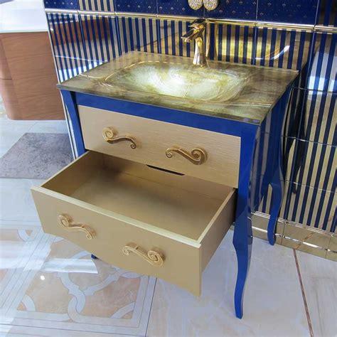 modern bathroom vanity estrella color gold