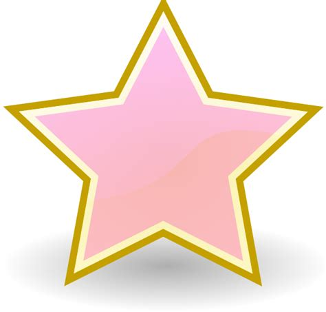 stelle clipart baby pink clip at clker vector clip