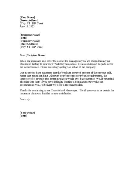 letter  explanation  mortgage levelings