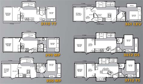 Attitude 5th Wheel Hauler Floor Plans by Haulers