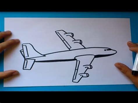 como dibujar  avion paso  paso    draw  plane  youtube