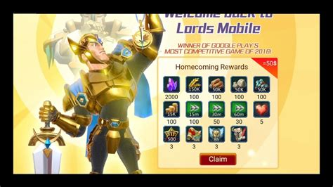Lords Mobile Free  Gift Package
