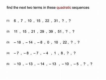 Sequences Quadratic Sequence Symmetry Appreciate