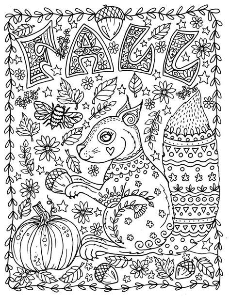 Kleurplaat Herfst Dieren Volwassenen by Kleurplaten Volwassenen Herfst