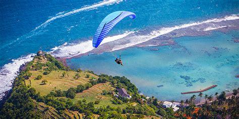 bukit timbis surga paragliding  bali merdekacom
