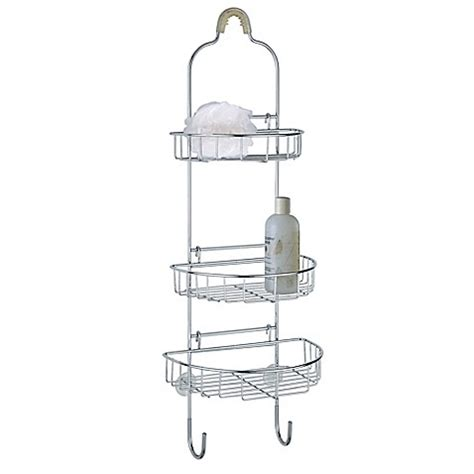 4334 adjustable shower caddy adjustable shower caddy in chrome bed bath beyond