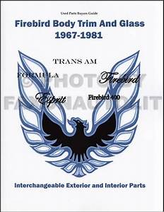 1969 Firebird  U0026 Trans Am Assembly Manual Reprint