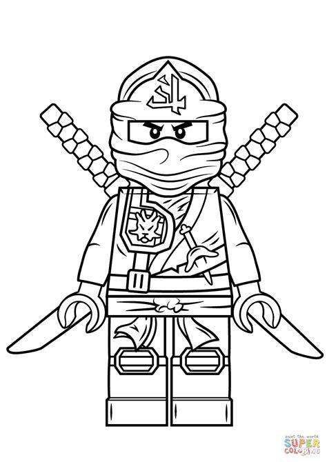 lego ninjago green ninja coloring page  printable