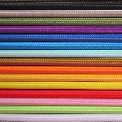 fabric covered l wire china textile cable braided cable cloth covered cable
