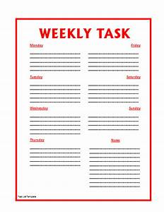 Task List Template By Formsword