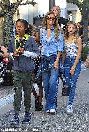Heidi Klum Daughters Put Stylish Display