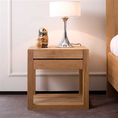 lade comodino moderne ethnicraft azur oak bedside table solid wood furniture