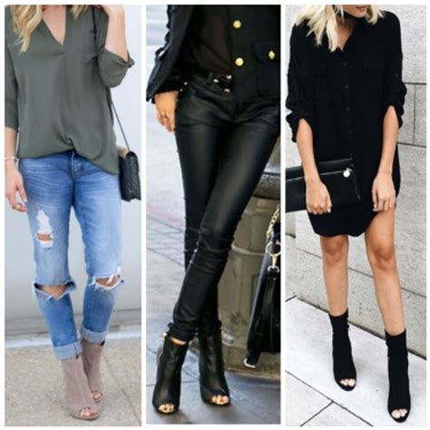 29 Killer Open Toe Booties Outfit Ideas to decide How and What to Wear - Damn You Look Good Daily