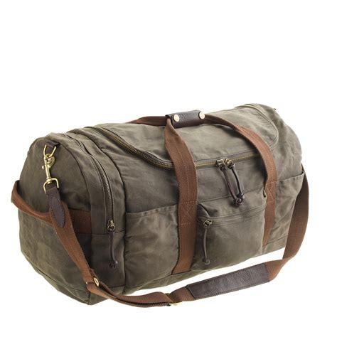 jcrew abingdon sporting duffel bag  green  men lyst