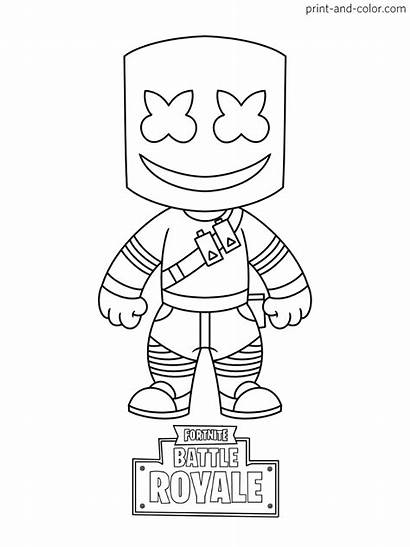 Fortnite Coloring Pages Peely Royale Battle Fishstick