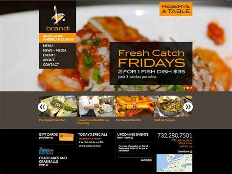 cuisine site restaurant website design web design nj web design for