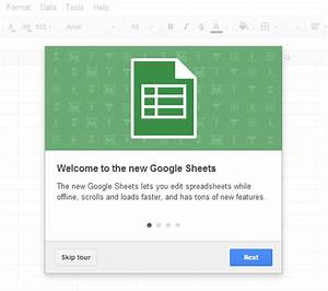 The New Google Sheets