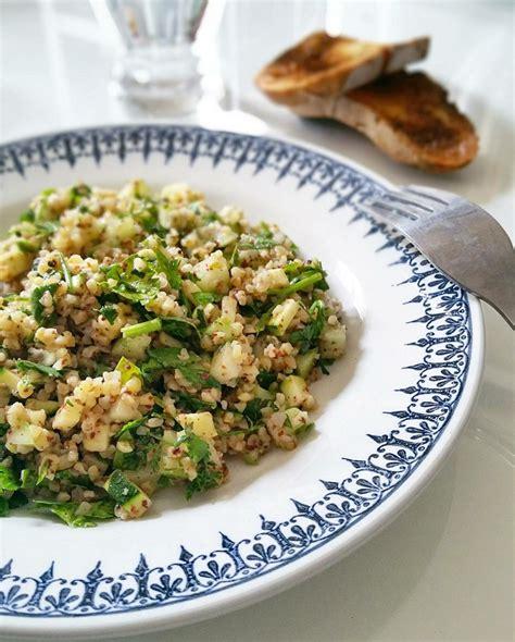 comment cuisiner le concombre taboulé vert boulghour et sumac frais et acidulé gratinez