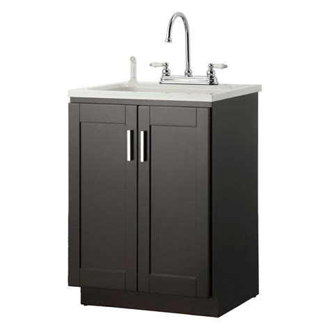 home depot laundry sink foremost palmero 24 in laundry vanity in espresso and abs