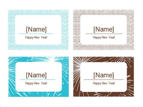 place card templates sample templates