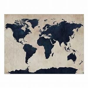 Carte Du Monde Design : marine afflig e de carte du monde poster carte du monde carte monde et monde ~ Teatrodelosmanantiales.com Idées de Décoration