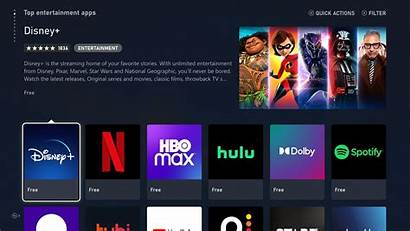 Xbox Apps Streaming Disney Netflix Apple Grid