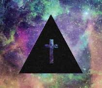 cool  cross  galaxy  hipster - image  624707 on Favim com  Hipster Triangle Galaxy Wallpaper