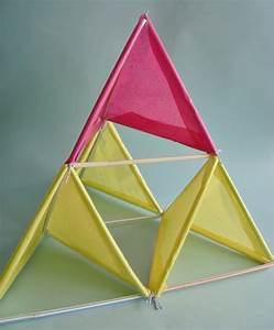 how to tetrahedral tissue paper kite make With tetrahedron kite template