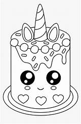Coloring Cake Pages Cute Cartoons Unicorn Hd Transparent Colouring Printable Cupcake Print Pngitem Easy Craft sketch template