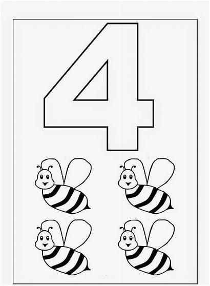 Worksheets Coloring Materials Preschool Number Printable Worksheet