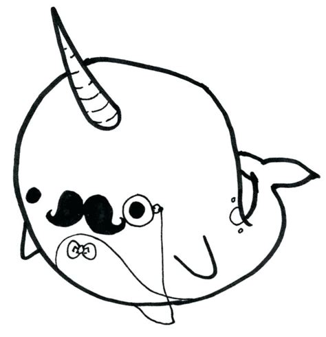 comfortable   printable narwhal coloring pages
