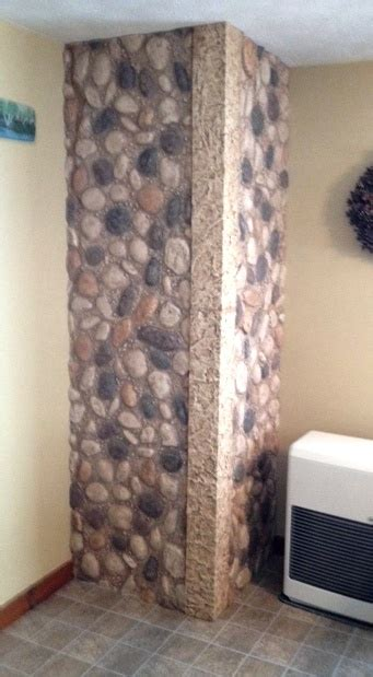 small bathroom remodel rocks creative faux panels