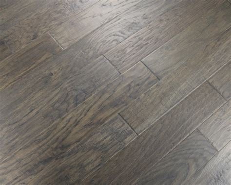 unfinished hardwood flooring hickory grey smoke 3 8 x 5 quot scraped engineered