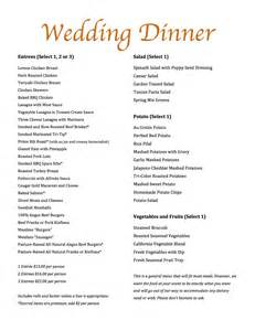 wedding menus magills catering wedding menu magills restaurant catering