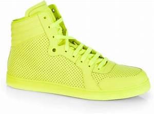 Gucci Coda Neon Hightop Sneakers in Yellow for Men NEON