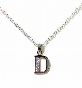 letter d initial necklace minimalist bridal necklace With letter d necklace