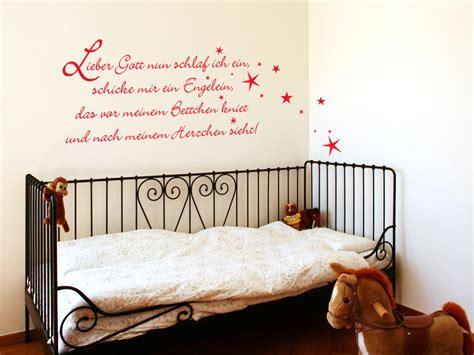 Wandtattoo Kinderzimmer Sprüche by Wandtattoo Gute Nacht Gebet Lieber Gott Schlaf Ich Ein