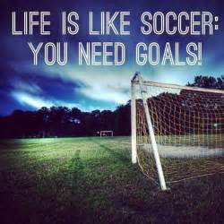 Quote Life Is Like Soccer You Need Goals