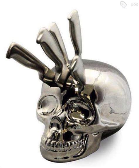 Home Accessory, Skull Knife Block, Halloween Decor, Skull