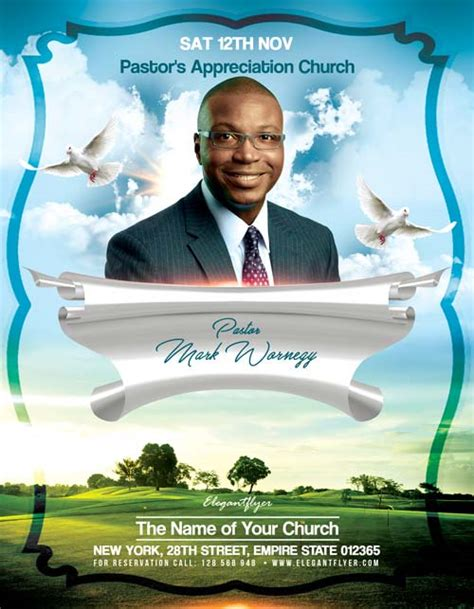 free church flyer templates photoshop pastors appreciation church free flyer template psd