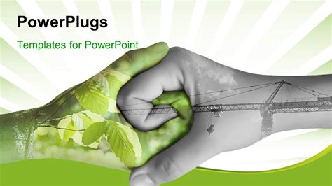 Powerplugs Templates For Powerpoint by Powerpoint Template Two Depicting Nature And