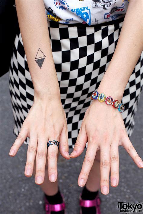 Tattoo Choker Bracelet diamond tattoo wire ring charm bracelet tokyo fashion 853 x 1280 · jpeg