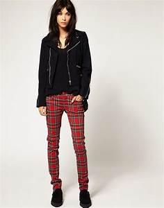 tripp nyc tripp nyc pantalon skinny a carreaux With pantalon carreaux ecossais